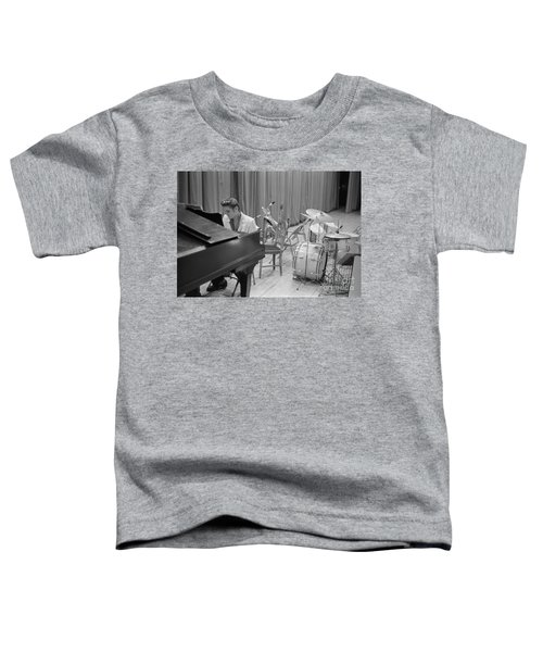 Elvis Presley On Piano Waiting For A Show To Start 1956 Toddler T-Shirt