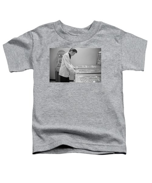 Elvis Presley Playing Pinball 1956 Toddler T-Shirt