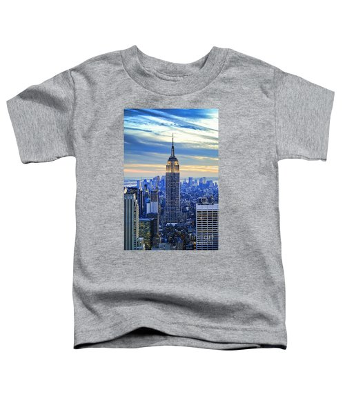 Empire State Building New York City Usa Toddler T-Shirt by Sabine Jacobs