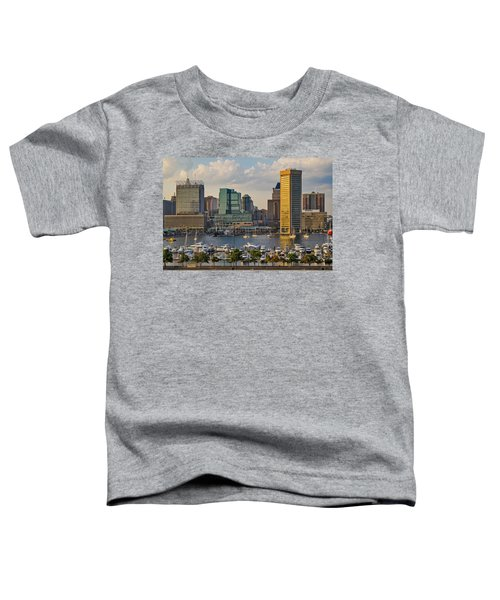 Federal Hill View To The Baltimore Skyline Toddler T-Shirt