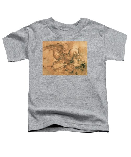 Fight Between A Dragon And A Lion Toddler T-Shirt