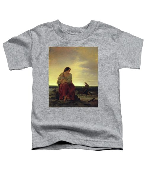 Fishermans Wife Mourning On The Beach Oil On Canvas Toddler T-Shirt