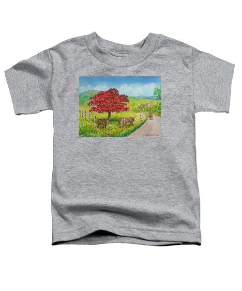 Flamboyan And Cows In Western Puerto Rico Toddler T-Shirt