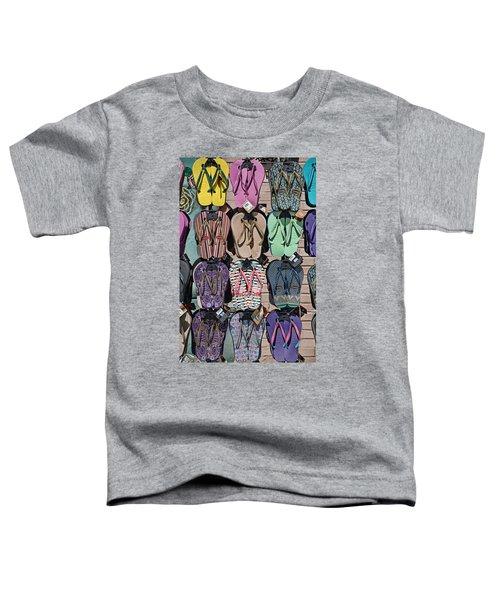 Flip Flops Toddler T-Shirt by Peter Tellone