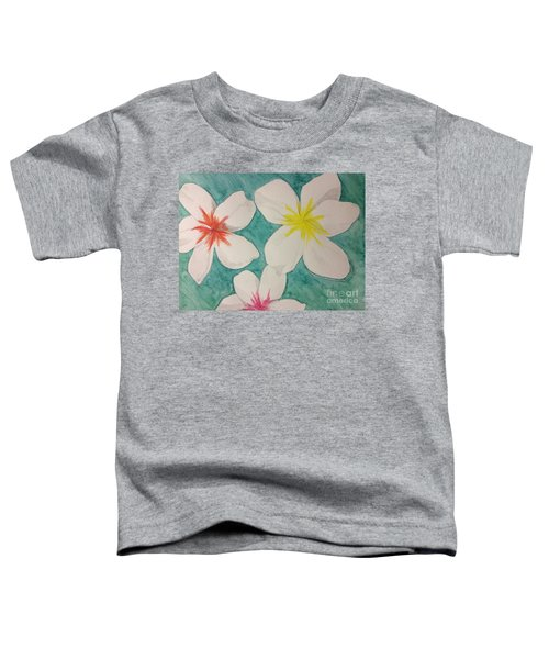 Floating Plumeria Toddler T-Shirt