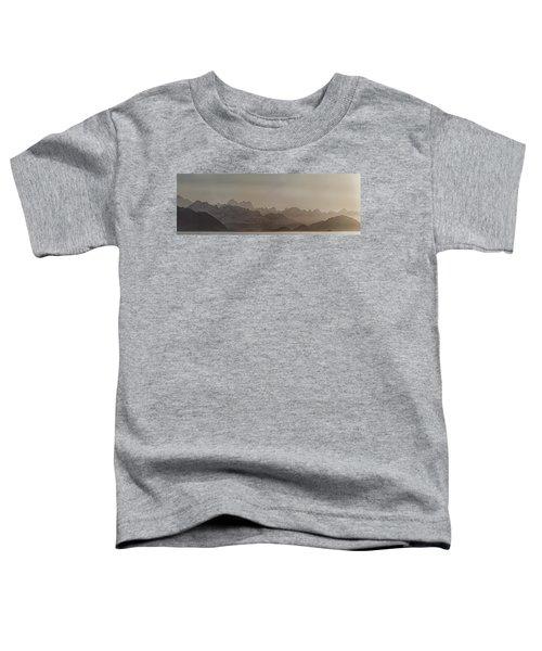 Fog Over Mountain In Glacier Bay Toddler T-Shirt