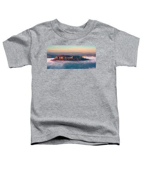 Fog Surrounding The Fortress Koenigstein Toddler T-Shirt