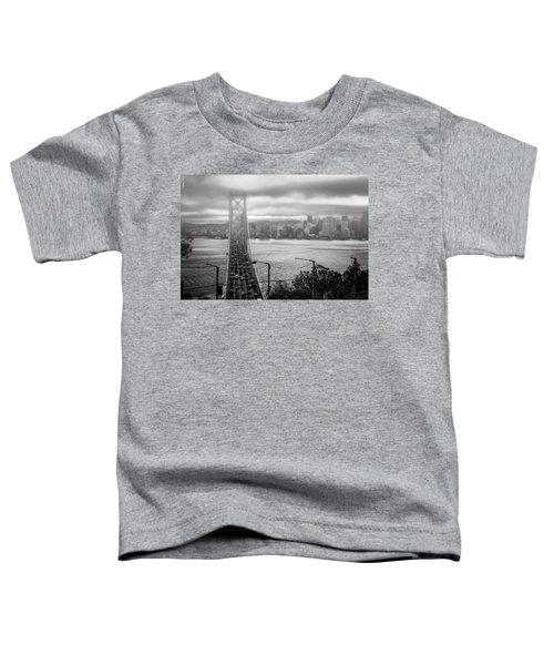 Foggy City Of San Francisco Toddler T-Shirt