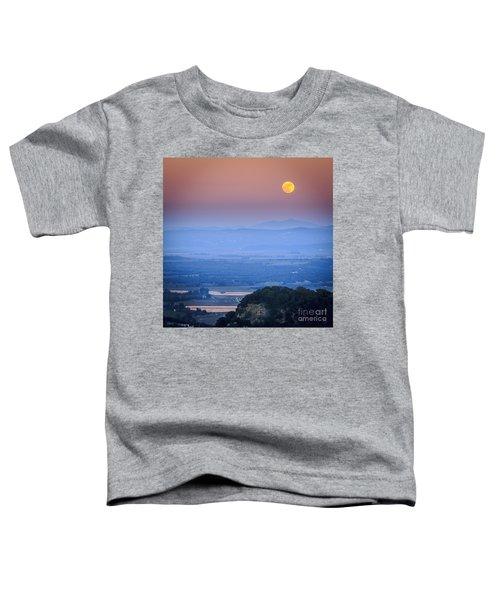 Full Moon Over Vejer Cadiz Spain Toddler T-Shirt