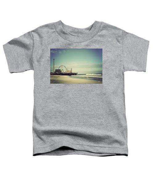 Funtown Pier Seaside Heights New Jersey Vintage Toddler T-Shirt