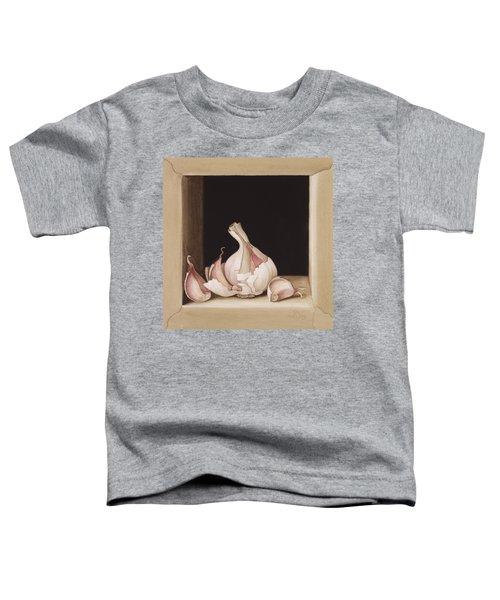Garlic Toddler T-Shirt by Jenny Barron