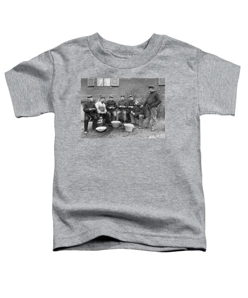 Germans Peeling Potatoes Toddler T-Shirt by Underwood Archives