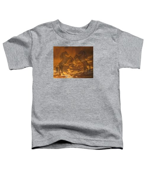 Ghost Horses At Sunset Toddler T-Shirt