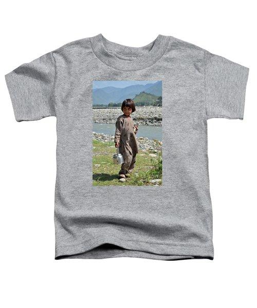 Girl Poses For Camera  Toddler T-Shirt