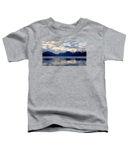 Toddler T-Shirt featuring the photograph Glacier Morning by Andrea Platt