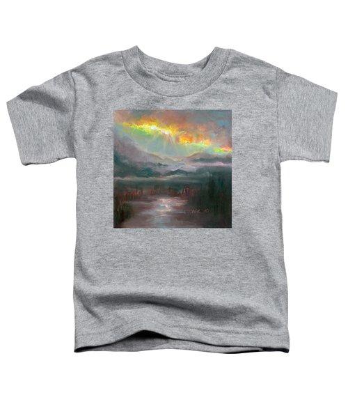 Gold Lining - Chugach Mountain Range En Plein Air Toddler T-Shirt