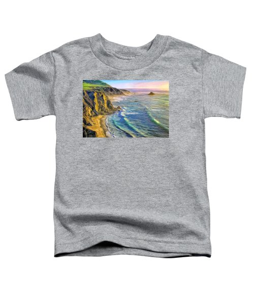 Golden Sunset At Big Sur Toddler T-Shirt