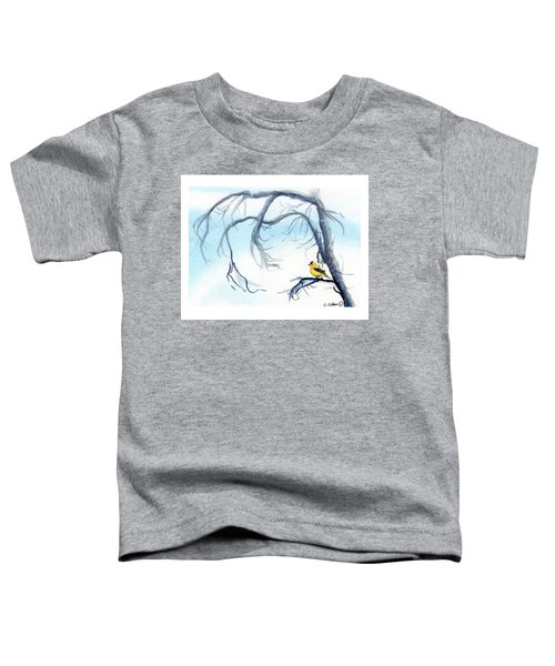 Goldfinch In Tree Toddler T-Shirt