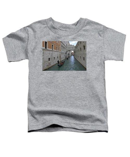 Gondolas Under Bridge Of Sighs Toddler T-Shirt