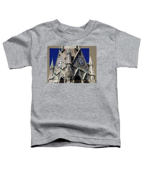 Gothic Church Clock Tower Spire Toddler T-Shirt