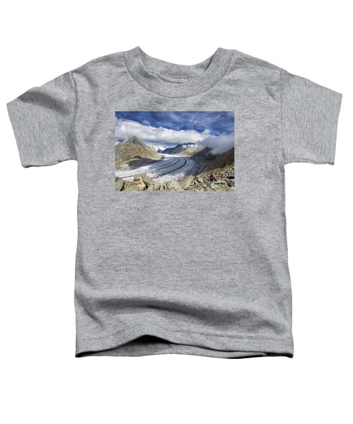 Great Aletsch Glacier Swiss Alps Switzerland Europe Toddler T-Shirt by Matthias Hauser