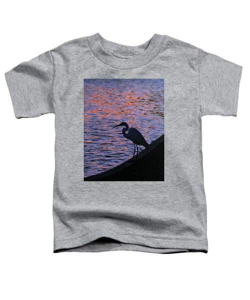 Great White Egret Silhouette  Toddler T-Shirt