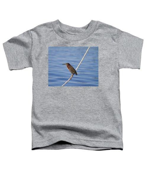 Green Back Heron Toddler T-Shirt