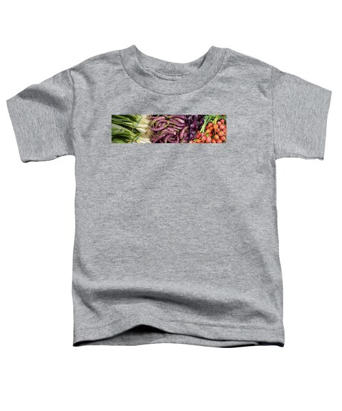 Green Onions, Chinese Eggplant, Red Toddler T-Shirt