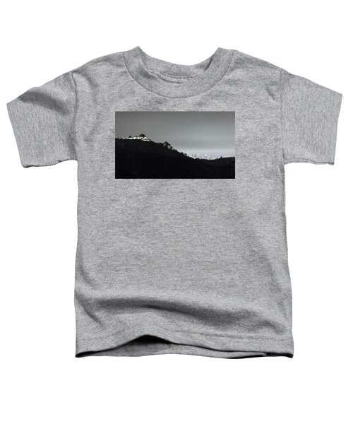 Griffith Park Observatory And Los Angeles Skyline At Night Toddler T-Shirt