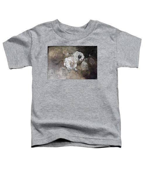 Grunge White Rose Toddler T-Shirt