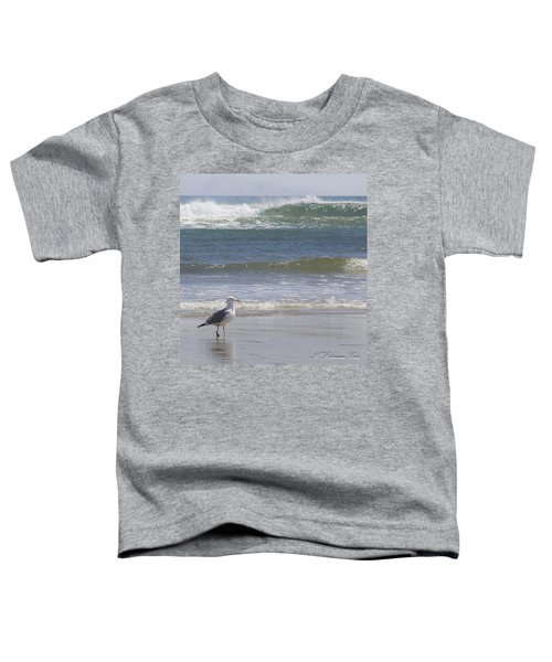 Gull With Parallel Waves Toddler T-Shirt