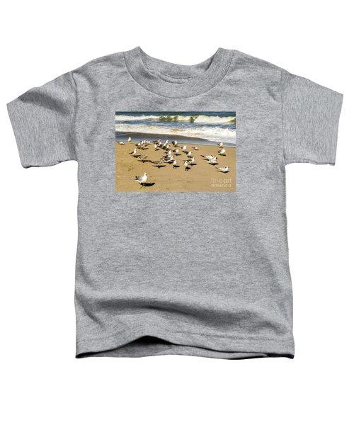 Gulls At The Beach Toddler T-Shirt