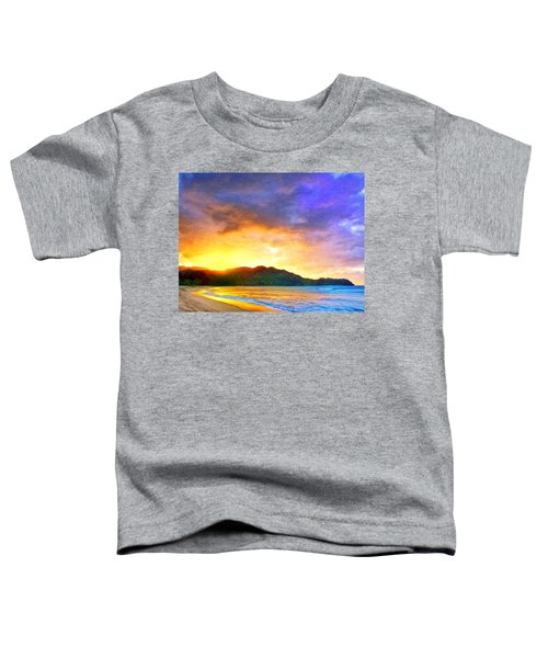 Hanalei Sunset Toddler T-Shirt