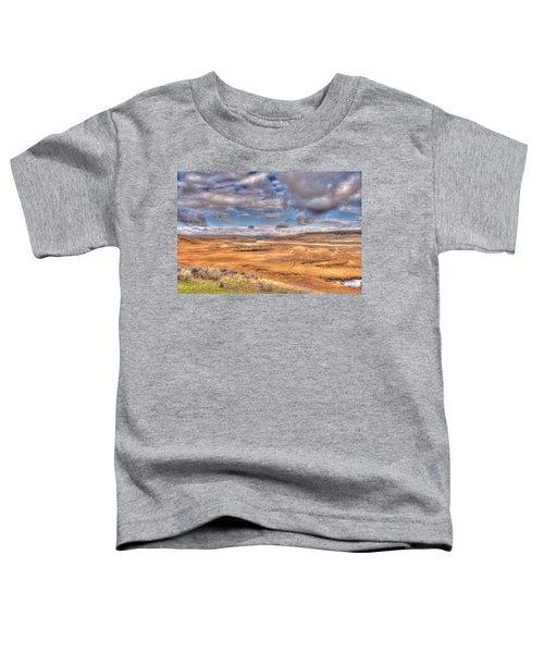 Hayden Valley Bison On Yellowstone River Toddler T-Shirt
