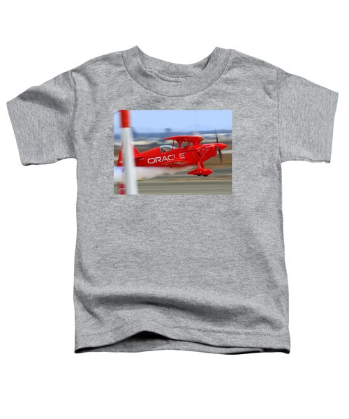 Hi Speed Low Pass By Sean Tucker At Salinas Ksns Air Show Toddler T-Shirt