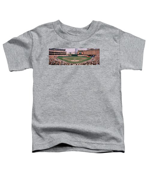 High Angle View Of A Baseball Field Toddler T-Shirt by Panoramic Images