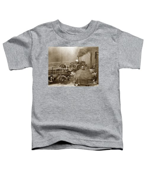 Horse Drawn Water Steam Pumper Fire Truck Circa 1906 Toddler T-Shirt
