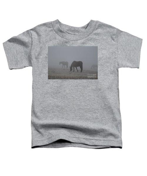 Horses In The Morning Fog Toddler T-Shirt