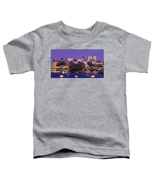 Ile De La Cite And Pont Des Arts / Paris Toddler T-Shirt