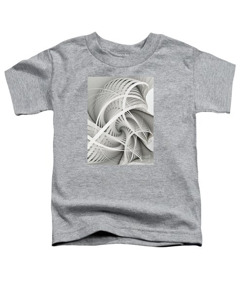 In Betweens-white Fractal Spiral Toddler T-Shirt