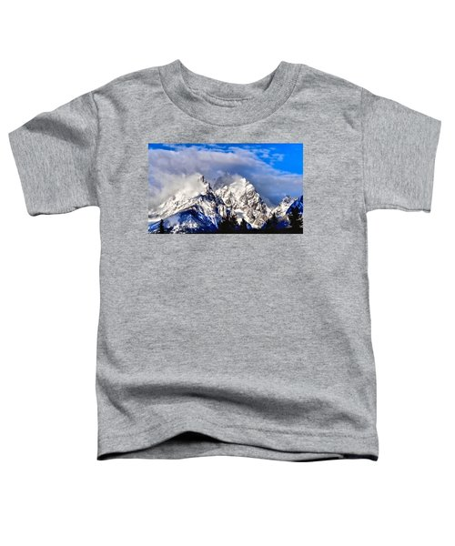 Teton Mountains In The Clouds Toddler T-Shirt