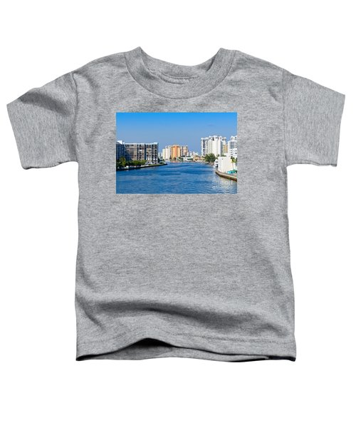 Intracoastal Waterway In Hollywood Florida Toddler T-Shirt