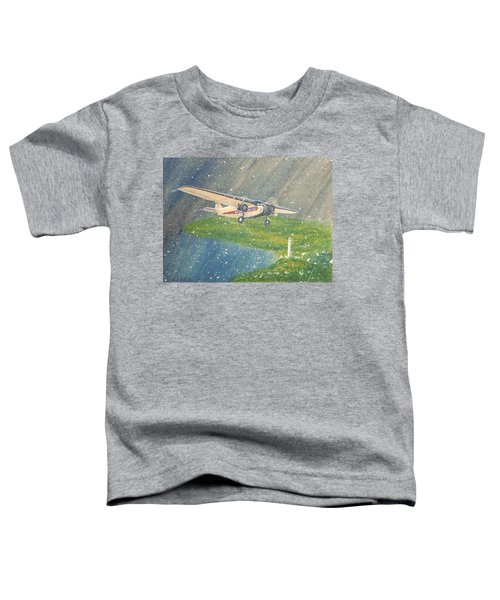 Island Airlines Ford Trimotor Over Put-in-bay In The Winter Toddler T-Shirt