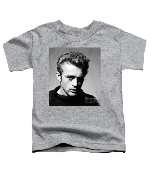 James Dean - Portrait Toddler T-Shirt by Paul Tagliamonte