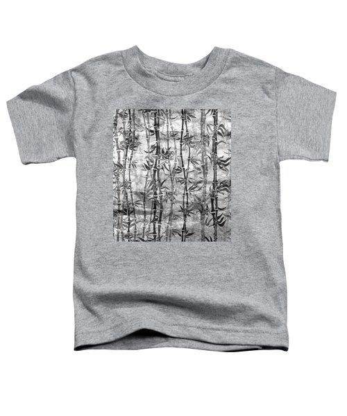 Japanese Bamboo Grunge Black And White Toddler T-Shirt