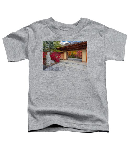 Toddler T-Shirt featuring the photograph Japanese Main Gate by Sebastian Musial
