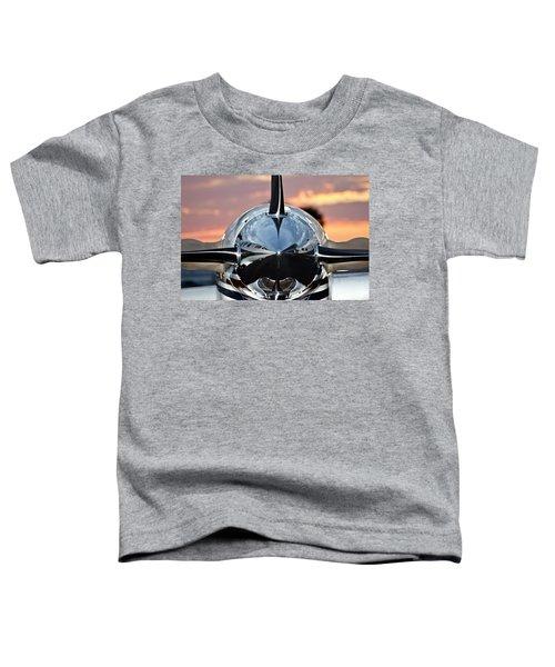 Airplane At Sunset Toddler T-Shirt
