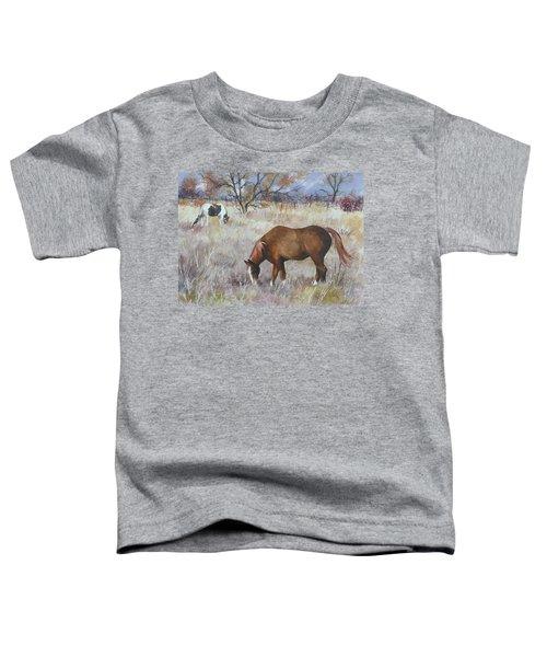 Jill's Horses On A November Day Toddler T-Shirt