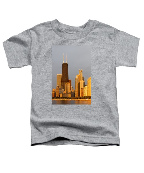 John Hancock Center Chicago Toddler T-Shirt by Adam Romanowicz