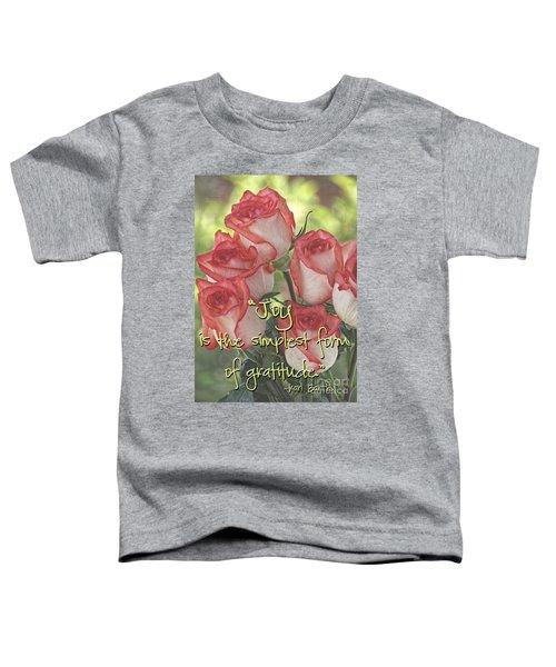 Joyful Gratitude Toddler T-Shirt